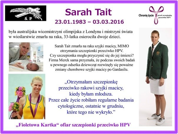 Sarah Tait - rak szyjki macicy