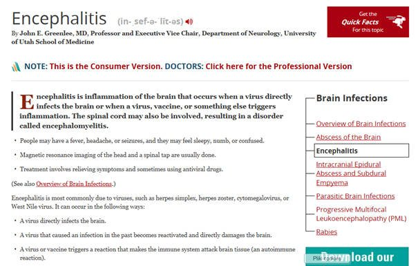Zapalenie mózgu po szczepieniu