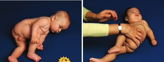 Typowy i nietypowy rozwój 4-miesięcznego dziecka - na boku
