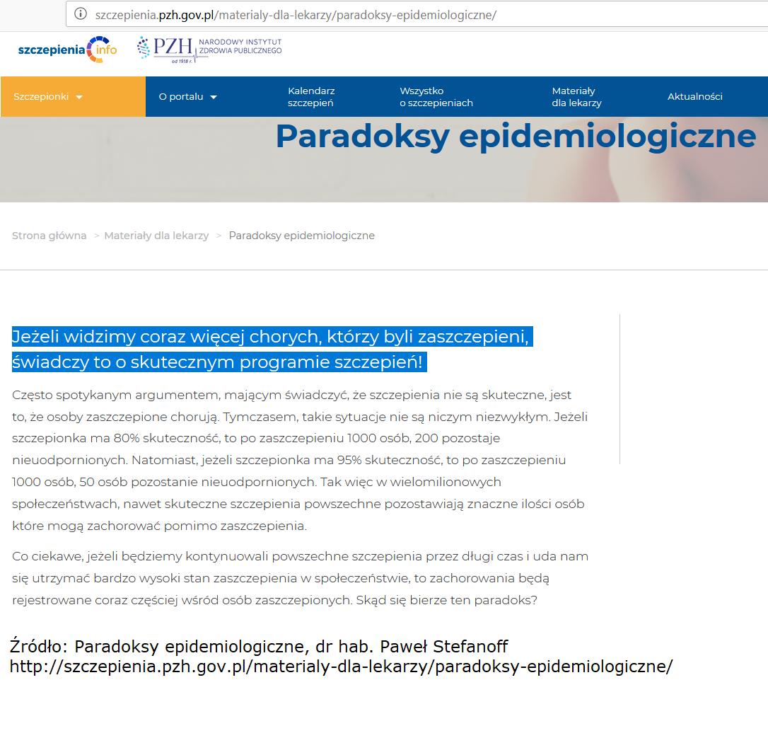 Paradosky epidemiologiczne