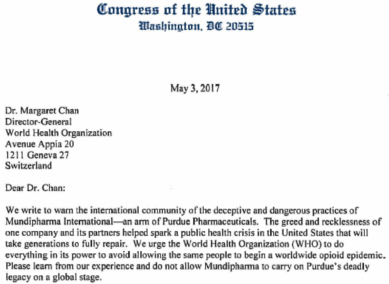 WHO i Purdue Pharma połączyły siły we wciskaniu opioidów na świecie - dr Margaret Chan, 3 maj 2017