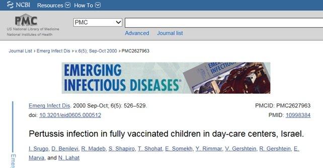 Krztusiec wśród zaszczepionych dzieci