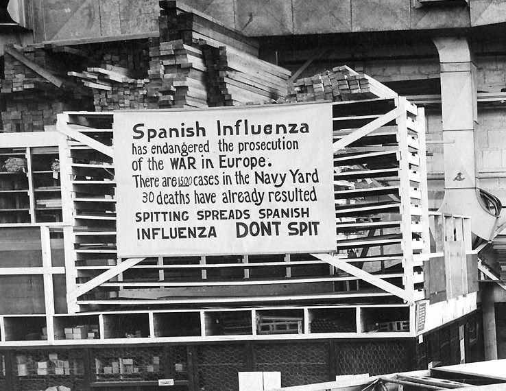 Plucie rozproszenia po hiszpańską grypę. NIE PLUJ