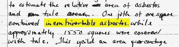 """W notatce laboratoryjnej profesor z University of Minnesota odnotował odkrycie """"niezaprzeczalnego azbestu"""" w próbce talku firmy J&J"""