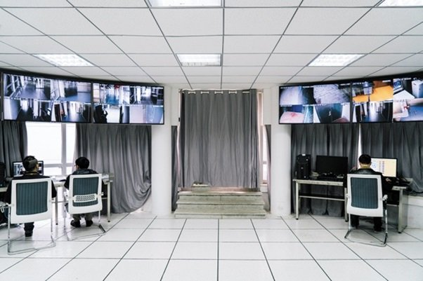Centrum monitoringu w chińskim Krajowym Laboratorium Bezpieczeństwa Biologicznego