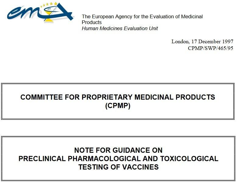 Wytyczne Dotyczące Przedklinicznych Badań Farmakologicznych i Toksykologicznych Szczepionek