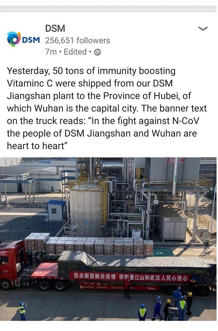 DSM - 50 ton witaminy C