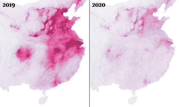 Koronawirus doprowadził do ogromnego spadku zanieczyszczenia powietrza w Chinach