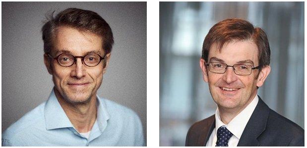 Dr Peter Horby i dr Martin Landray