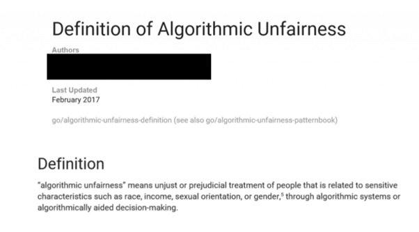 Definicja tendencyjności algorytmu