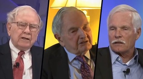 Warren Buffett, David Rockefeller i Ted Turner