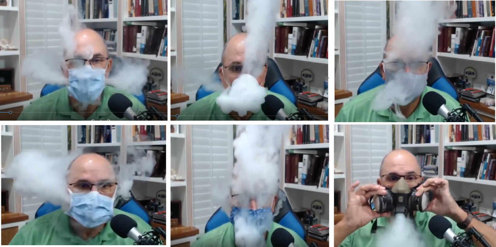 Wydychany aerozol i maski na twarz