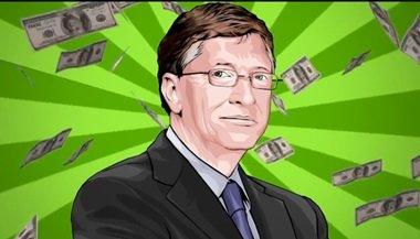 """Bill Gates - używając jego """"super mocy"""" bycia bardzo bogatym, by pomóc w """"ocaleniu planety""""."""