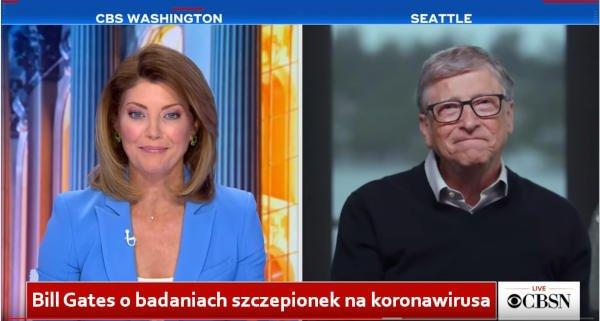 Bill Gates o badaniach szczepionek na koronawirusa - CBS