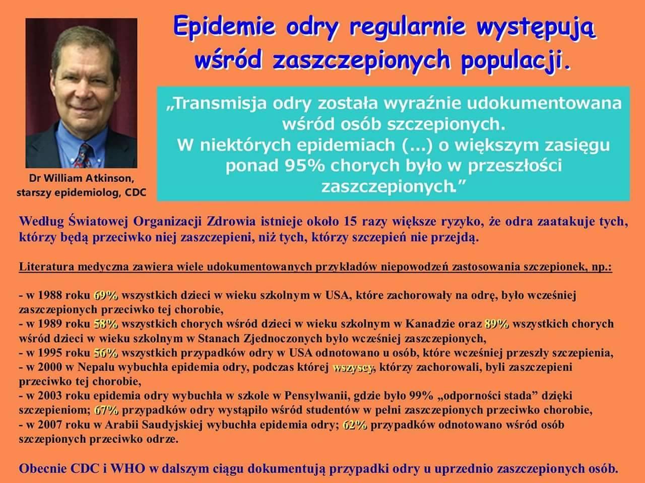 Epidemie odry regularnie występują wśród zaszczepionych populacji.