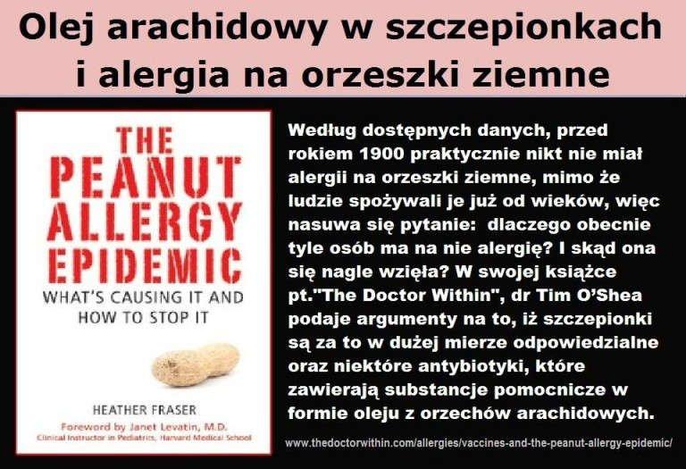 Olej arachidowy w szczepionkach i alergia na orzeszki ziemne