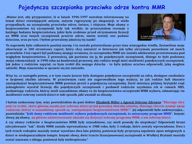 Pojedyncza szczepionka przeciwko odrze kontra MMR - Szczepionka na odre