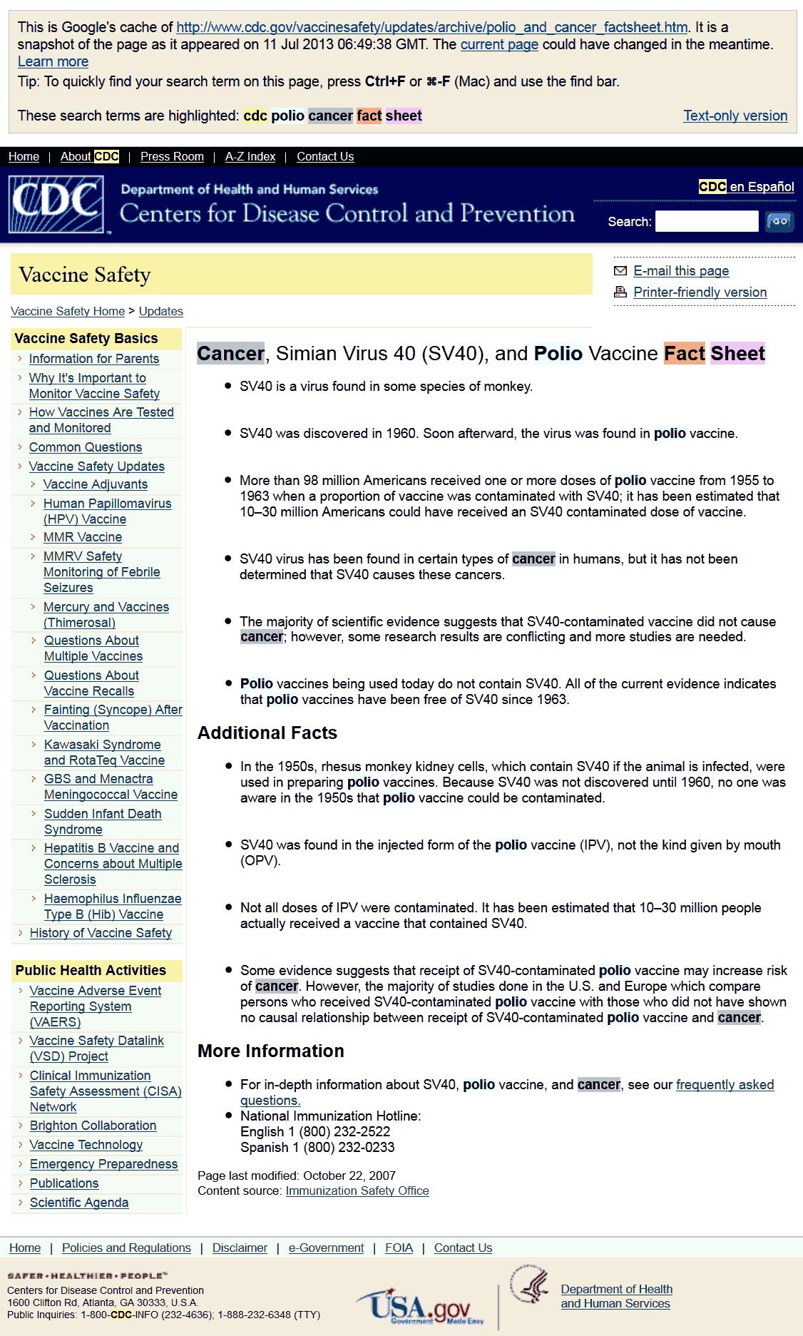 Rak, małpi wirus 40 (SV40) i szczepionka przeciwko polio