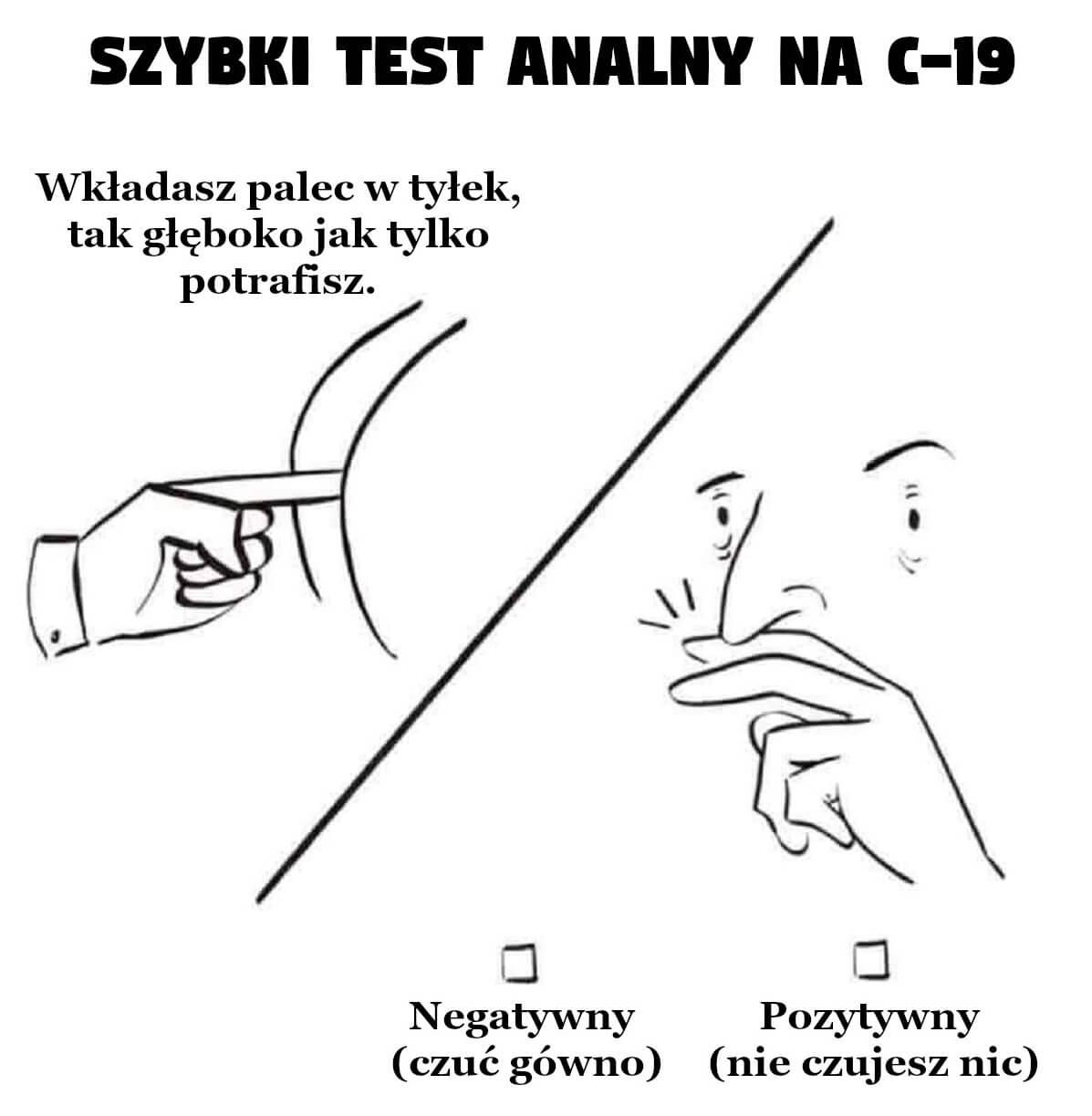 Szybki test analny na COVID-19