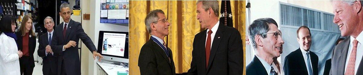 Dr Anthony Fauci - Barack Obama, George Bush i Bill Clinton
