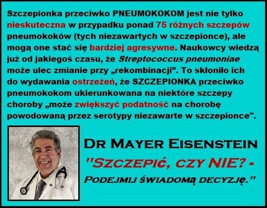 Dr Mayer Eisenstein - Szczepionka przeciwko PNEUMOKOKOM