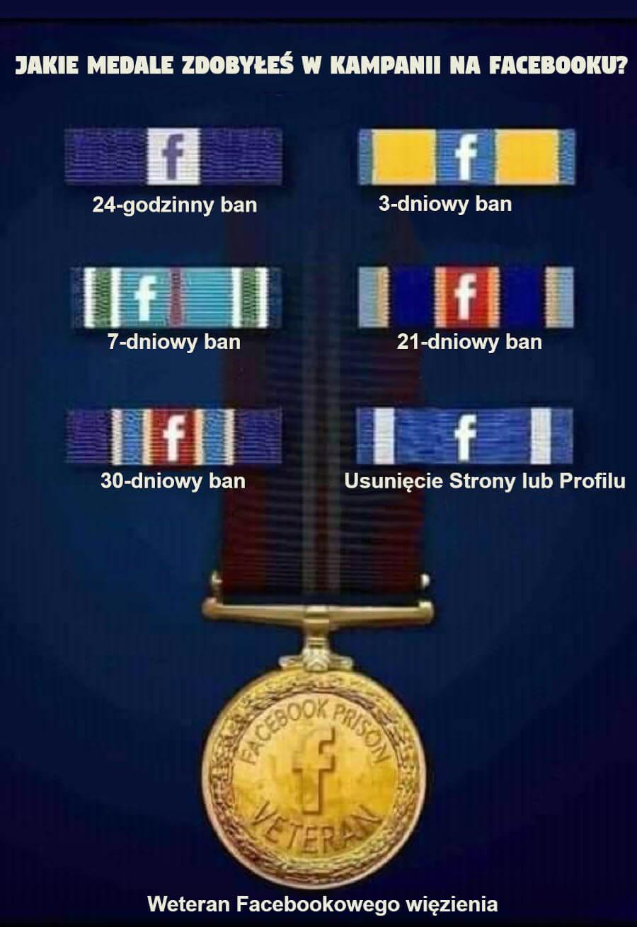 Medale w kampani na FB