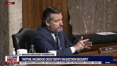Ted Cruz miażdży dyrektorów Twittera i Facebooka podczas przesłuchań dotyczących cenzury