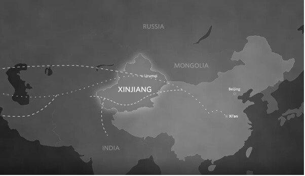 Szlaki handlowe z Chin do Euroazji