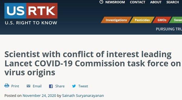 Konflikt interesów w Komisjach COVID-19 ds. Pochodzenia Wirusa.