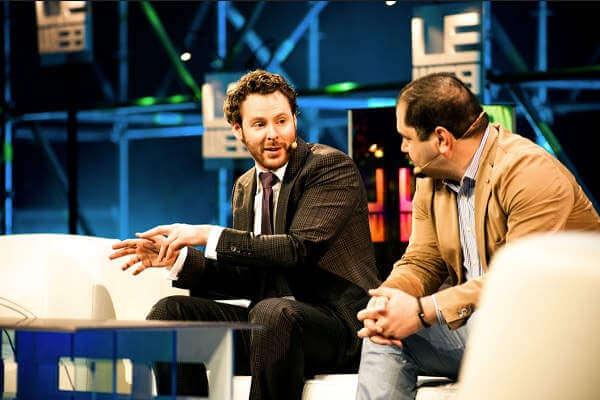Sean Parker z Founders Fund przemawia podczas konferencji LeWeb w 2011 roku