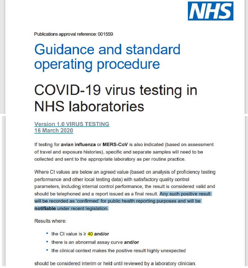 Badanie na obecność wirusa odpowiedzialnego za COVID-19 w laboratoriach NHS [brytyjskiej służby zdrowia].