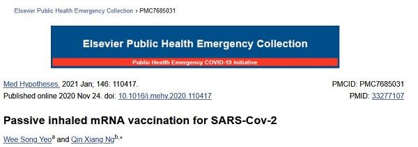 Pasywna wziewna szczepionka mRNA przeciwko SARS-Cov-2