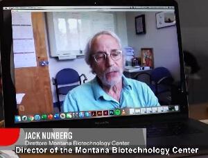 Dr Jack Nunberg, dyrektor Centrum Biotechnologicznego w Montanie
