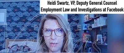 Heidi Swartz, zastępca dyrektora w biurze radcy prawnego ds. prawa pracy i reprezentacji pracowników w Facebooku