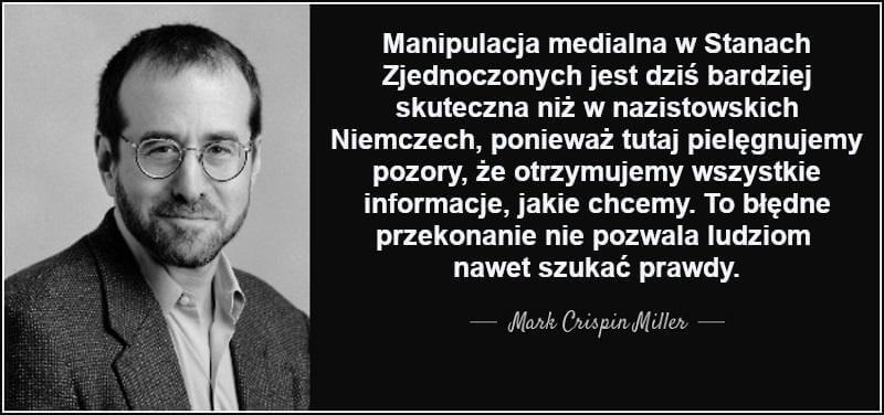 Manipulacja medialna - profesor Mark Crispin Miller
