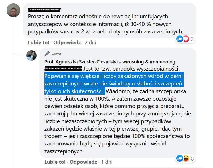 Prof. Agnieszka Szuster-Ciesielska - wirusolog & immunolog - Paradoksy immunologiczne, paradoks wyszczepialności