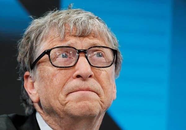 Bill Gates na Światowym Forum Ekonomicznym w Davos w Szwajcarii