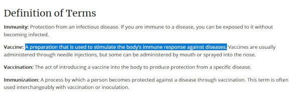 """Definicja terminu """"szczepionka"""" w 2021 (wrzesień)(1)"""